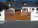 Portails Nantes : PVC aspect bois