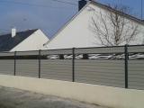 Clotures Nantes : R�alisation avenue Beauregard � la CHAPELLE sur ERDRE