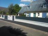 """Clotures Nantes : R�alisation rue des Hameaux � THOUARE SUR LOIRE. Cl�ture aluminium """"Par-vue"""""""